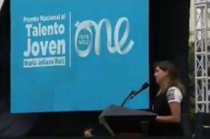 Premio Nacional al Talento Joven María Juliana Ruiz