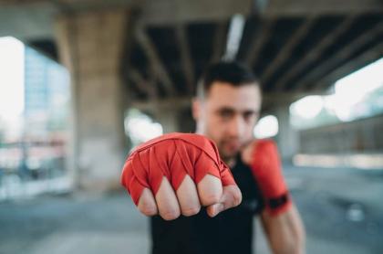 Luchador de Muay Thai.