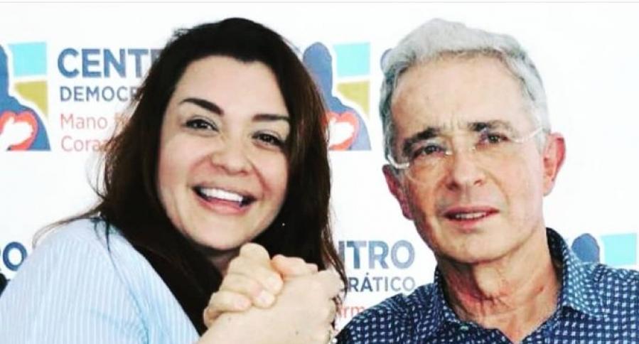 Margarita Restrepo y Álvaro Uribe