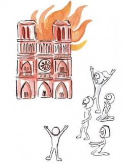 'Todos lloraron incendio en Notre Dame pero el de la Amazonía tiene pocos dolientes'