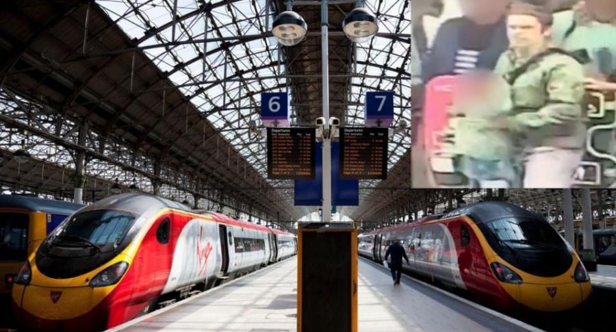 Estación de trenes en Inglaterra.