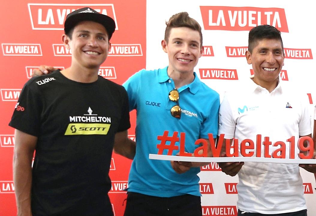 Esteban Chaves, Miguel Ángel López y Nairo Quintana