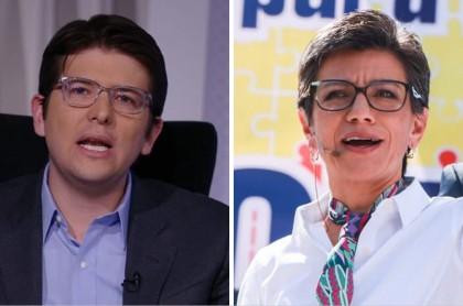 Miguel Uribe y Claudia López