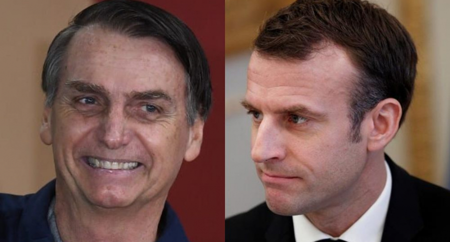 Jair Bolsonaro y Emanuel Macron
