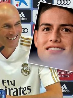 [Video] Empezaron los elogios de Zidane para James en el Real Madrid