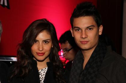 Jessica Cediel, presentadora, y Pipe Bueno, cantante.