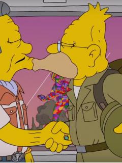 ¿Salió del clóset? El abuelo de 'Los Simpson' protagonizó una escena gay [Video]