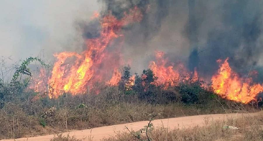 Incendio en Porto Velho, Rondonia