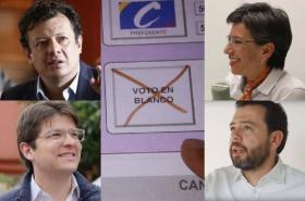 Voto en blanco para la alcaldía de Bogotá agosto 2019