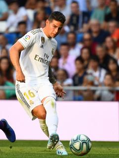 James fue titular y salió aplaudido en el empate entre Real Madrid y Valladolid
