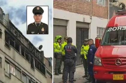 Edificio donde habría muerto el patrullero Óscar Leonardo Guevara