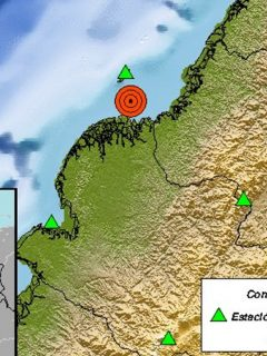 Registran temblor de magnitud 5,3 en el Pacífico colombiano