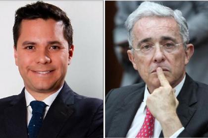 Luis Carlos Vélez y Álvaro Uribe