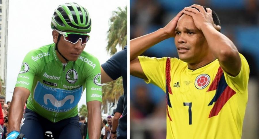 Nairo Quintana y Carlos Bacca