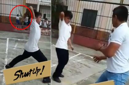 Estudiante sacó puñal en colegio