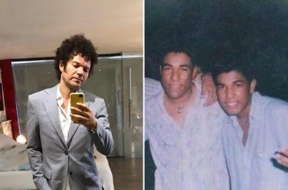 Andres Cabas y los hermanos Kaleth y Keyner Morales, cantantes.