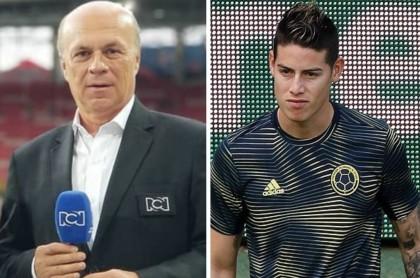 Carlos Antonio Vélez crítica a James Rodríguez por presente en Everton