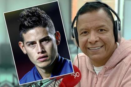 James Rodríguez e Iván René Valenciano