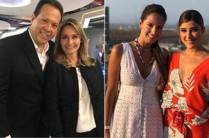 Javier Fernández ('el Cantante del gol'), Inés María Zabaraín, Laura Acuña y Andrea Jaramillo, presentadores.
