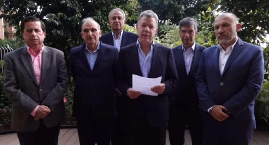 Declaración conjunta de Santos y equipo negociador.