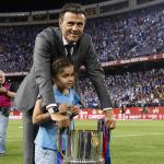 Luis Enrique y su hija Xana