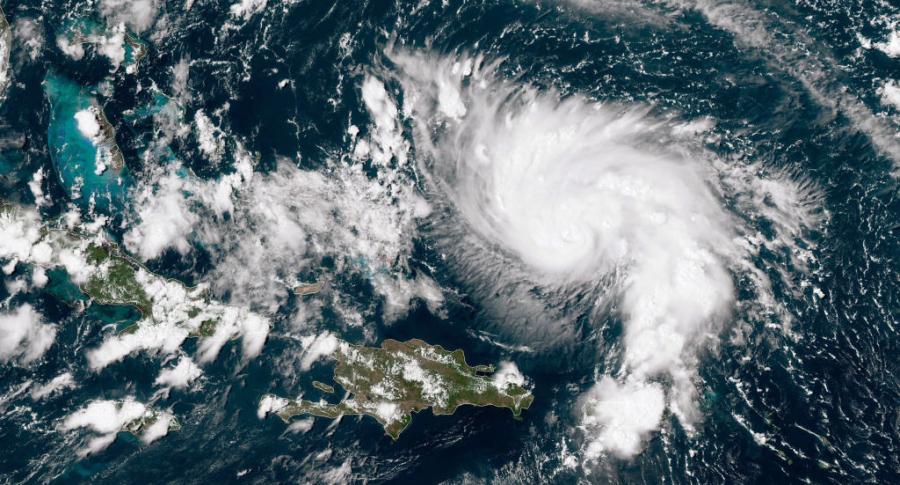 Imagen satelital huracán Dorian