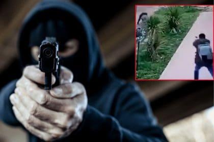 Policía se defiende de ladrón armado.