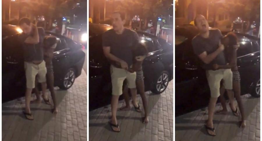 Mujer ataca a conductor.