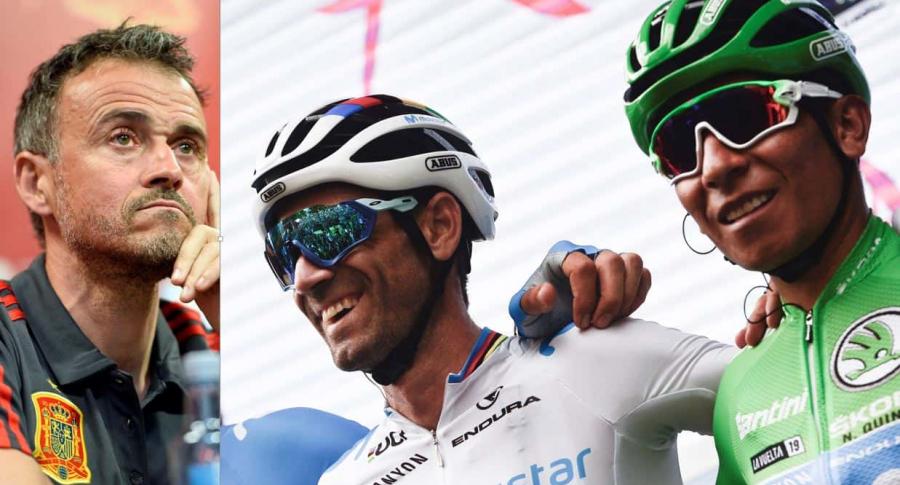 Nairo, Valverde y Luis-Enrique