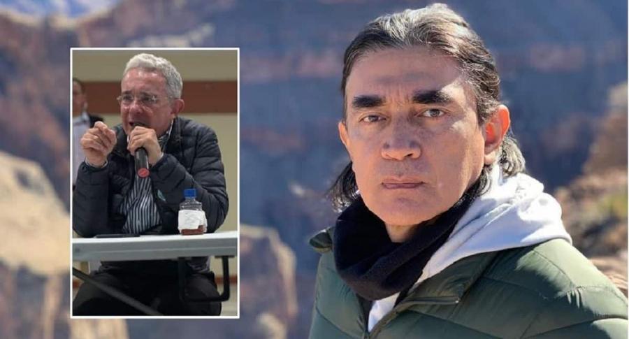 Álvaro Uribe y Gustavo Bolívar