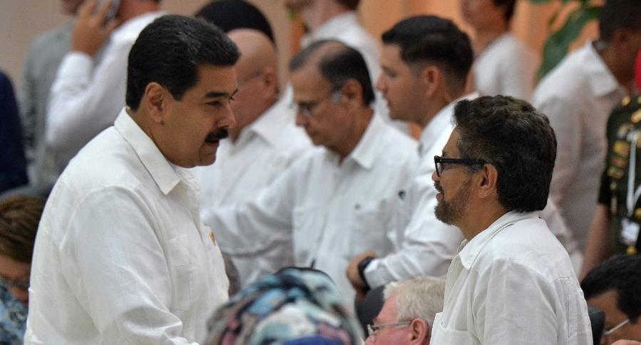 Nicolás Maduro e Iván Márquez