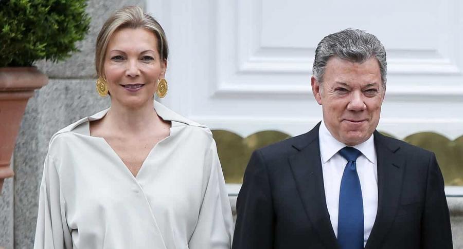 'Tutina' de Santos, exprimera dama, y Juan Manuel Santos, expresidente.