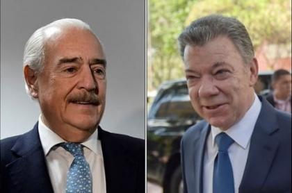 Andrés Pastrana y Juan Manuel Santos.