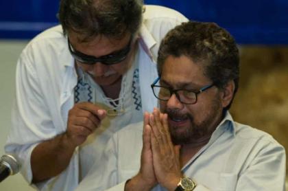 'Iván Márquez' y 'Jesús Santrich'