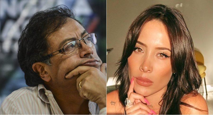 Gustavo Petro, senador, y Luisa Fernanda W, 'youtuber'.