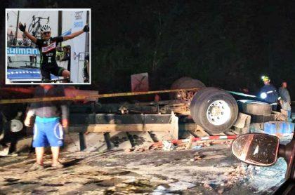Accidente de camión en vía Bogotá-Medellín