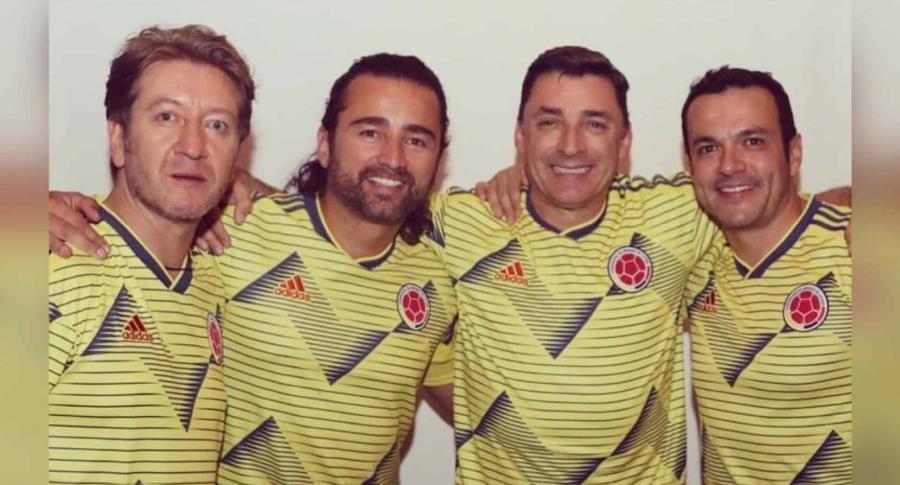 Walther Luengas, Andrés Toro, Jorge López y Juan Diego Alvira