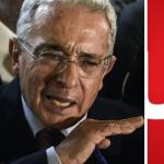Álvaro Uribe y Logo Noticias Uno