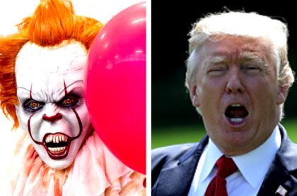 Pennywise y Trump