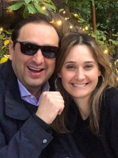 Jorge Alfredo Vargas e Inés María Zabaraín, esposos y presentadores.