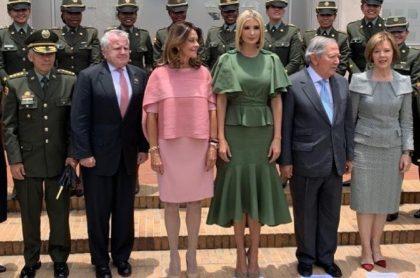 Ivanka Trump, Marta Lucia Ramírez y Guillermo Botero.
