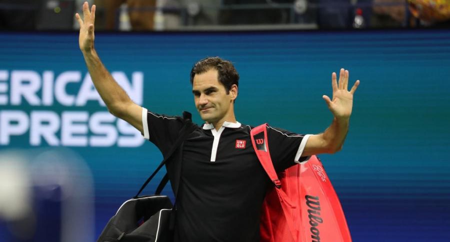 Roger Federer en el US Open 2019
