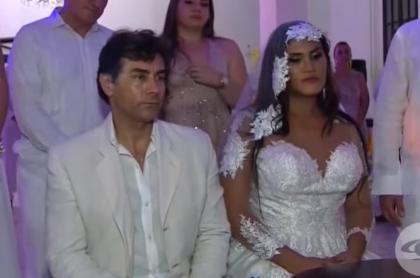 Mauro Urquijo, actor, y su esposa María Gabriela Isler, modelo trans.