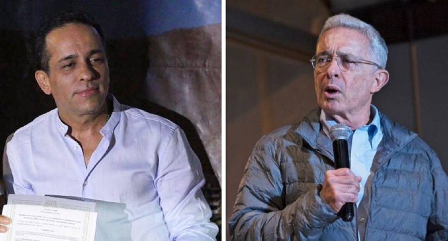 Alexánder López y Álvaro Uribe