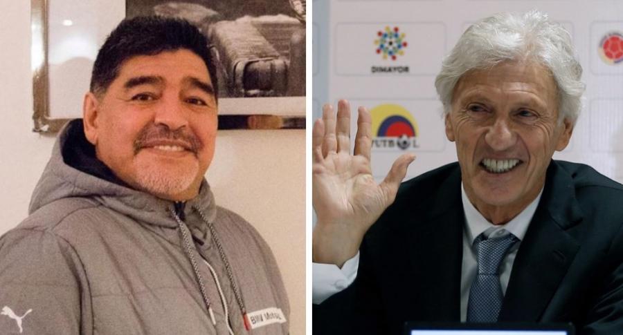 Diego Maradona y José Pékerman