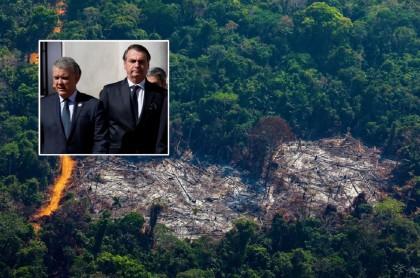 Iván Duque y Jair Bolsonaro, deforestación en el Amazonas