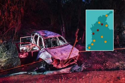 Vehículo en el que fue asesinada candidata y mapa de riesgo electoral
