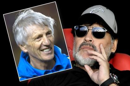 José Pékerman y Diego Maradona