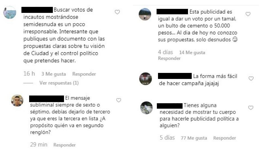 Comentarios publicaciones Elizabeth Loaiza