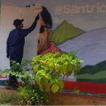 Mural pintado de 'Santrich'